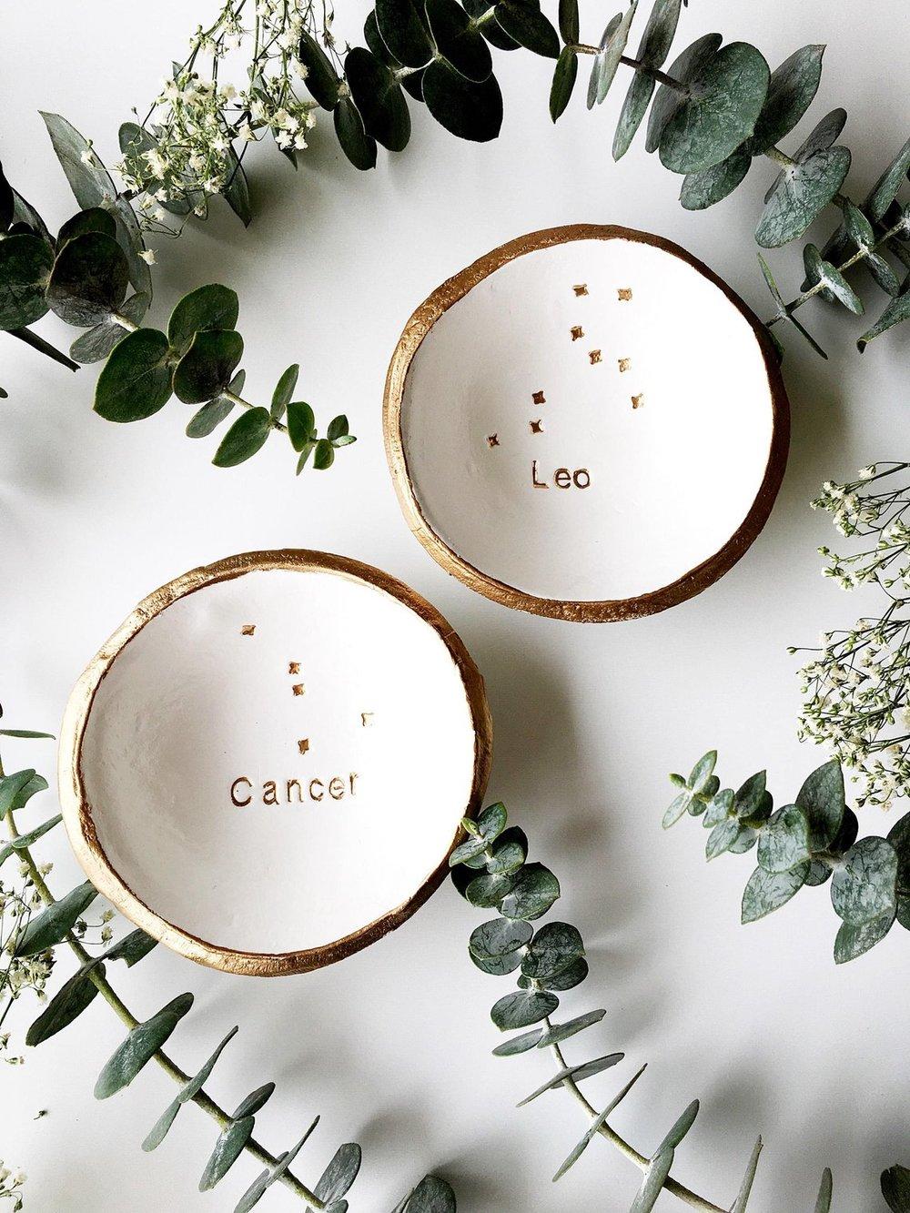 Zodiac Signs Personalized Jewelry Dish By ThePaintedPress