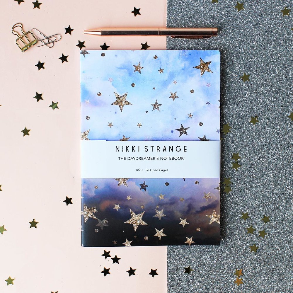 Cloudy Stars Celestial Notebook By Nikkistrange