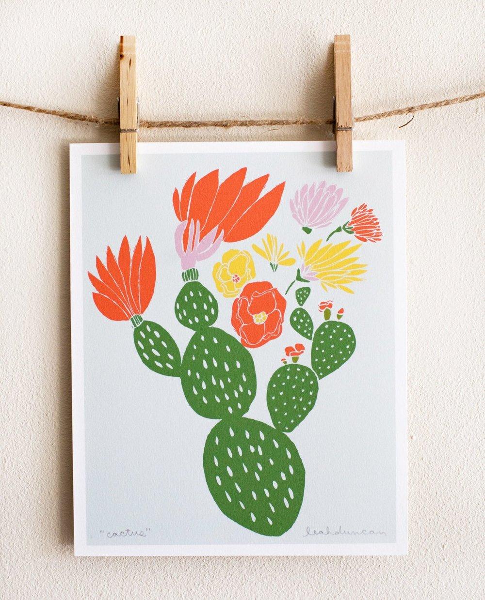 Cactus Print By LeahDuncan