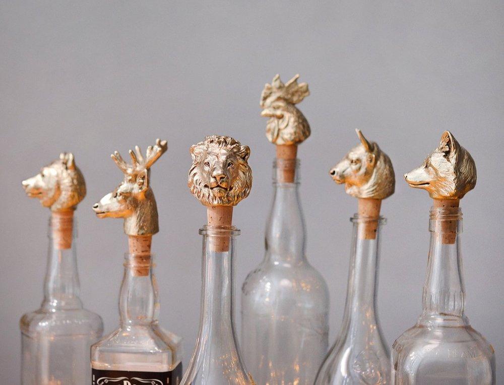 Brass and Cork Bottle Stoppers By Masterskaya1717