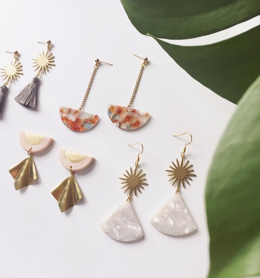 Eclectic Geometric Statement Earrings By AmprisLoves