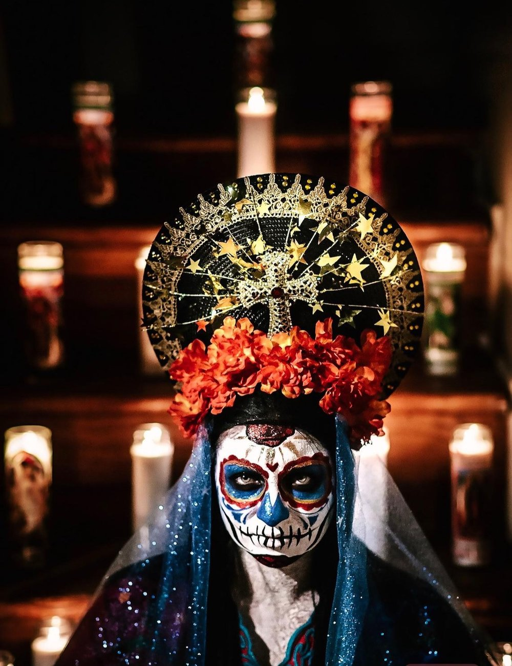 Day of the Dead Dia de los Muertos Virgin Mary Halo Headpiece By JezebelsFascination