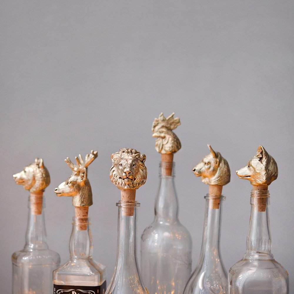 Brass and Cork Bottle Stoppers By Masterskaya1717