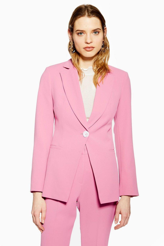 Slim Single Breasted Jacket By Topshop