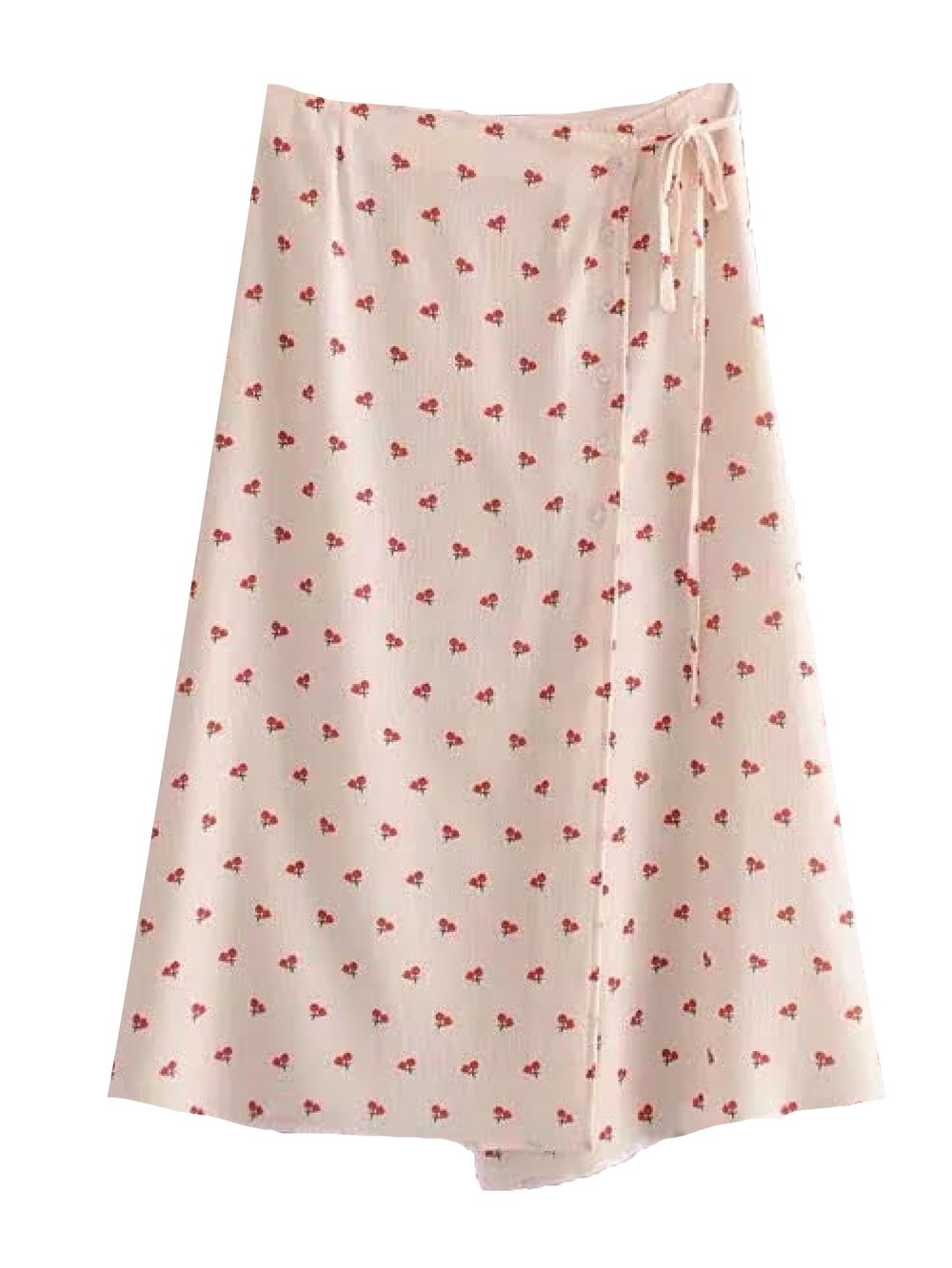 'PETUNIA' CHERRY PRINT WRAP MIDI SKIRT By Goodnight Macaroon