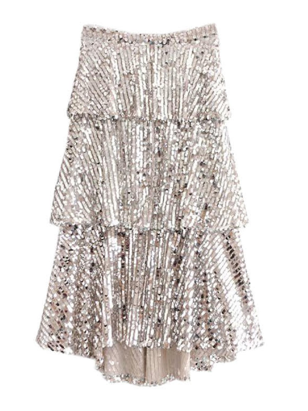 Goodnight Macaroon 'Amiee' Sequinned Midi Skirt