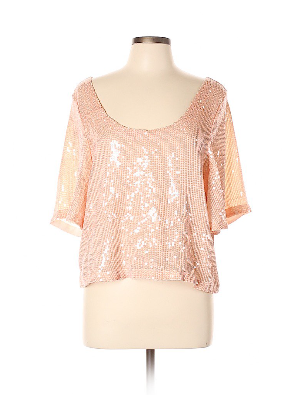 Free People Blush Sequin Top By ThredUp