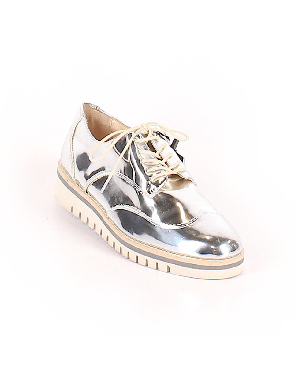 Zara Silver Shoes By ThredUp