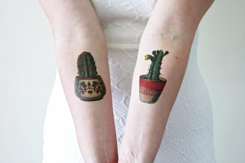 Cactus Temporary Tattoo By Tattoorary
