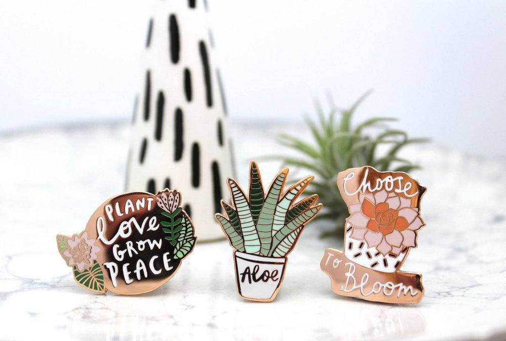 Enamel Pin Gift Set By Katy Pillinger Designs