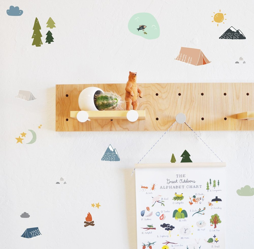 Camping Adventure Wall Decal By The Lovely Wall
