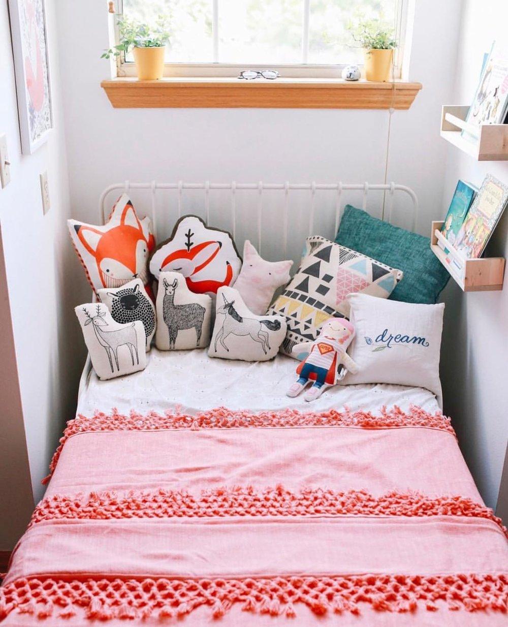 Nursery Decorative Animal Pillows By Gingiber