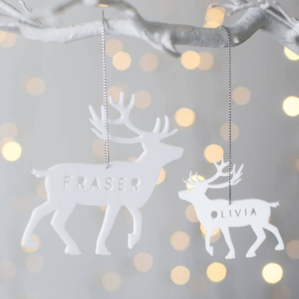 Personalized Reindeer Christmas Decoration By Twenty Seven UK