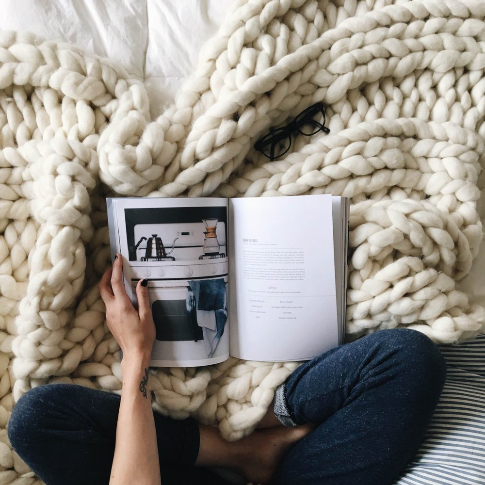 Super Chunky Knit Blanket By Colorways Gallery