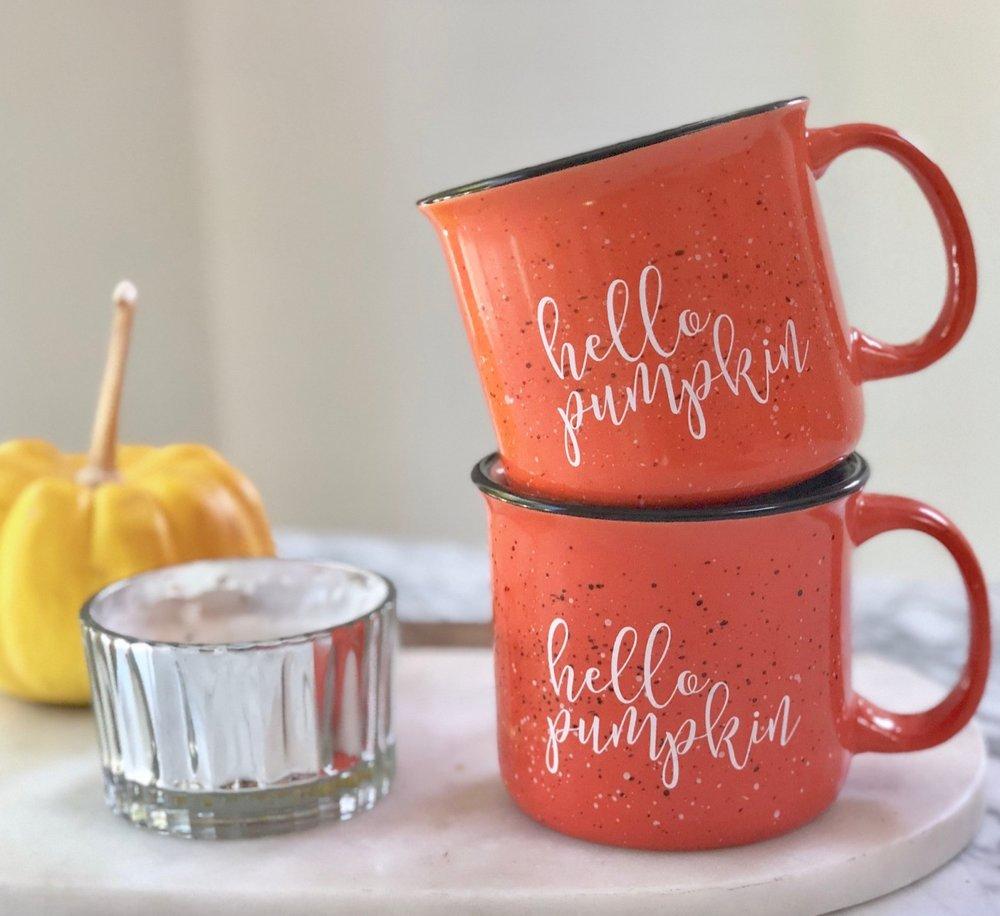 Hello Pumpkin Campfire Mug By Pretty Collected