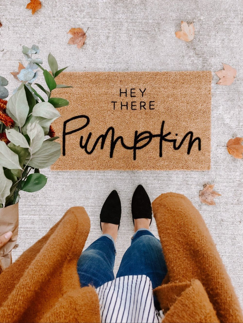 Hey There Pumpkin Fall Decor Welcome Mat By Olive Creative Company