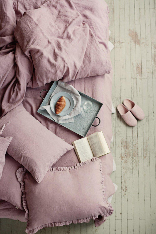 Linen duvet cover in Woodrose By Magic Linen