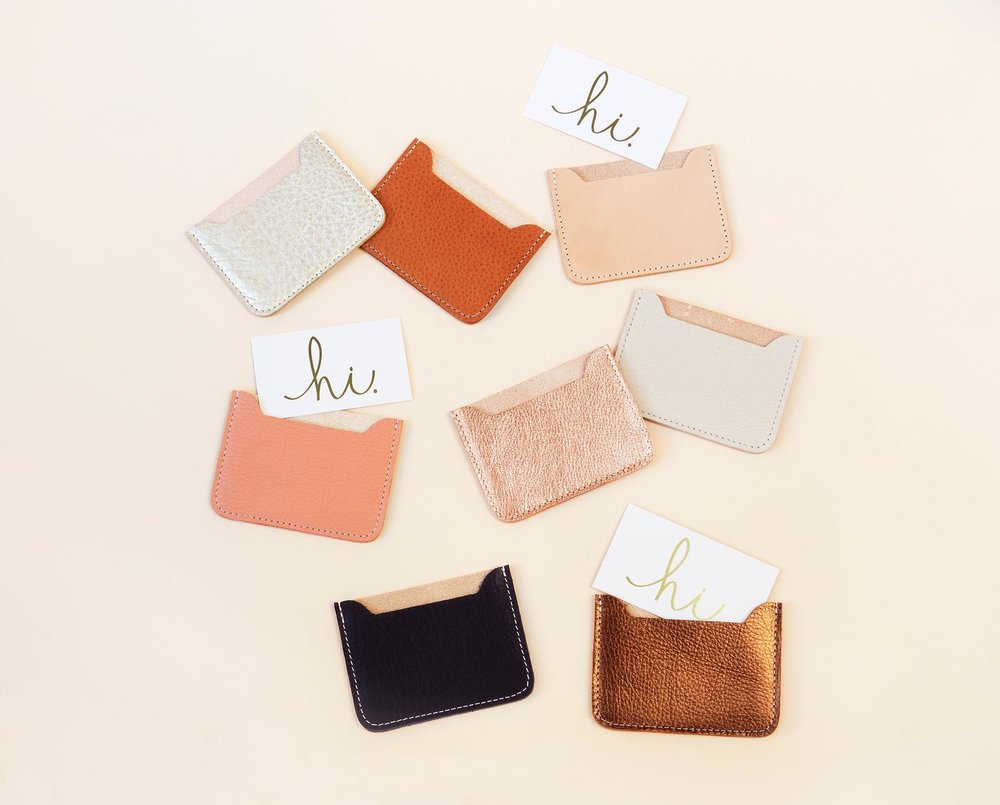 Leather Credit Card Case By Annie Bukhman