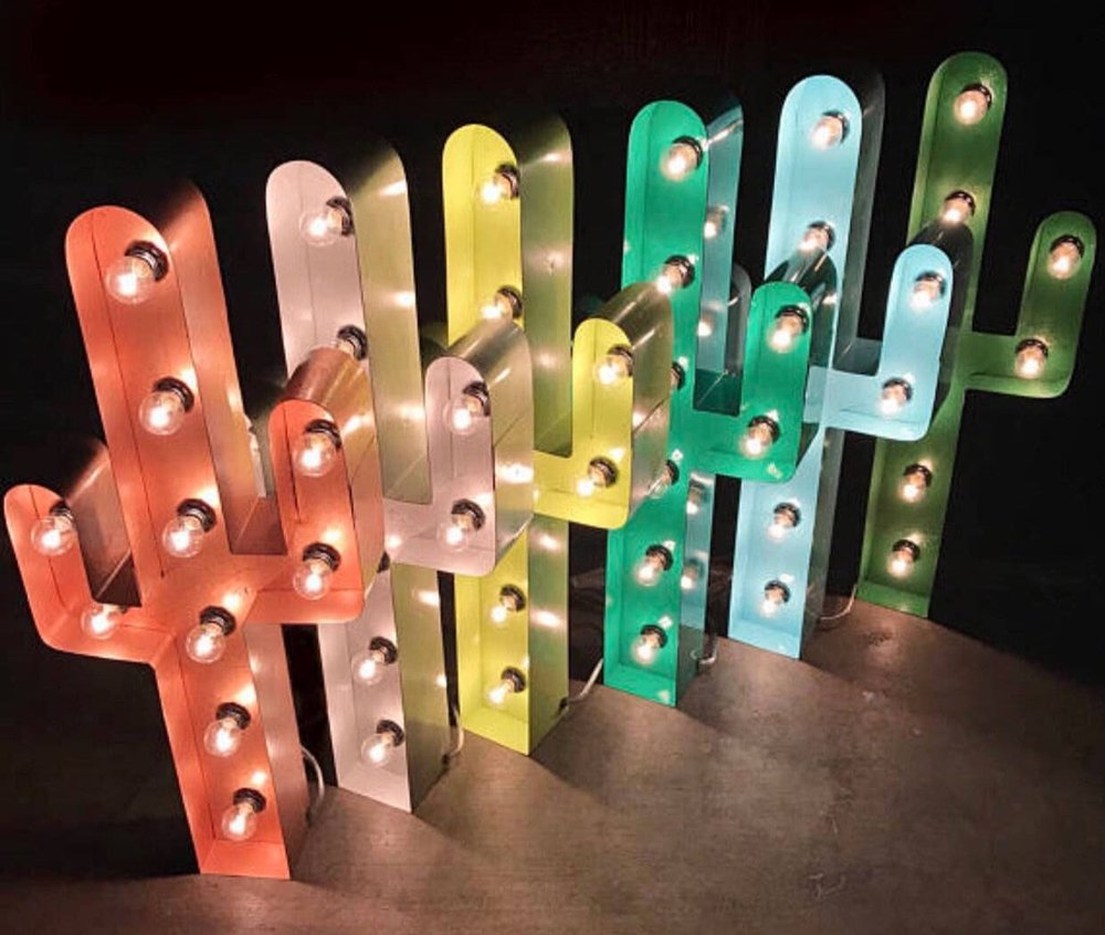 Cactus Marquee Light By Sawand Steel
