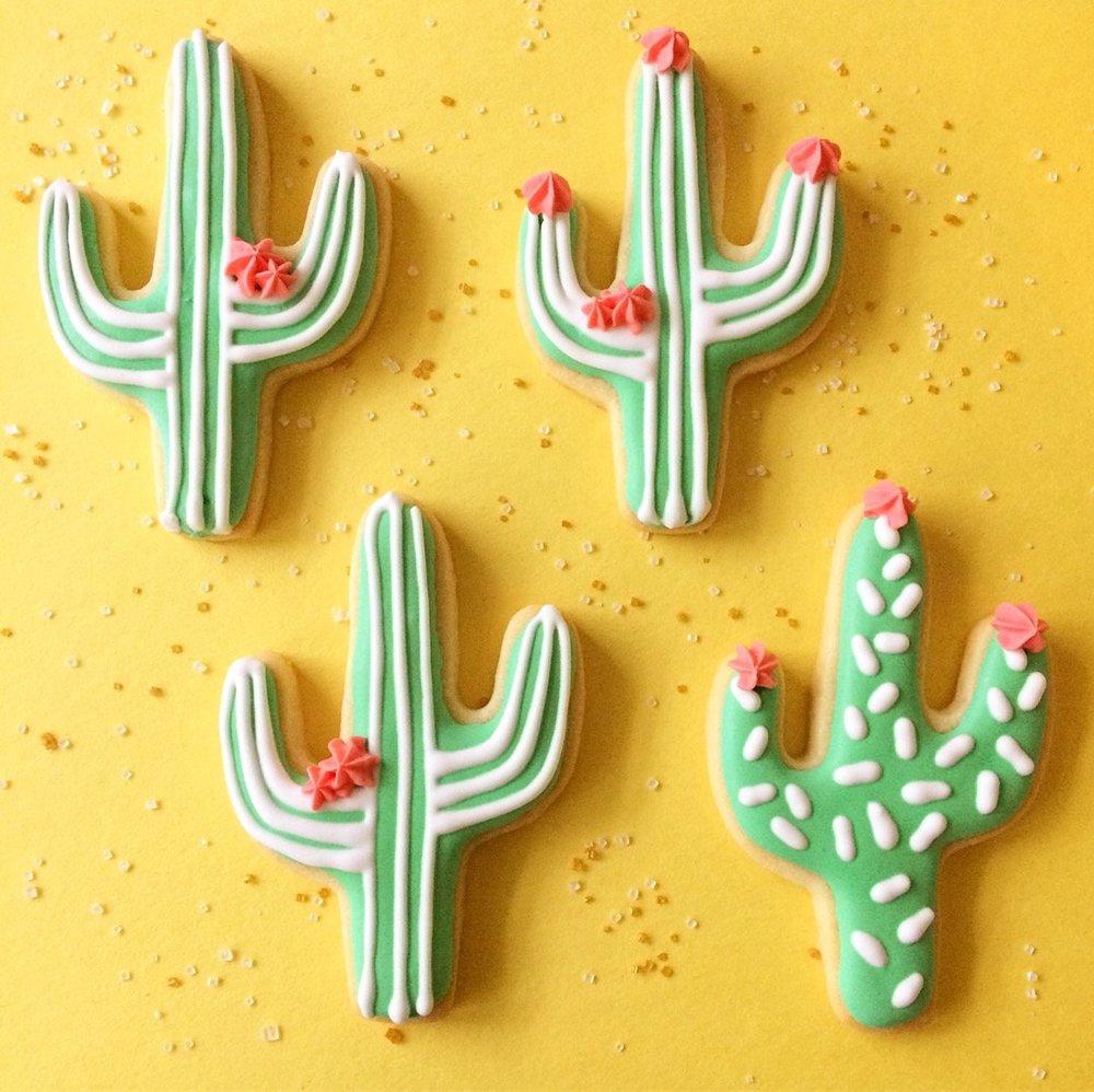 Cactus Cookies By Wallflour Cookies