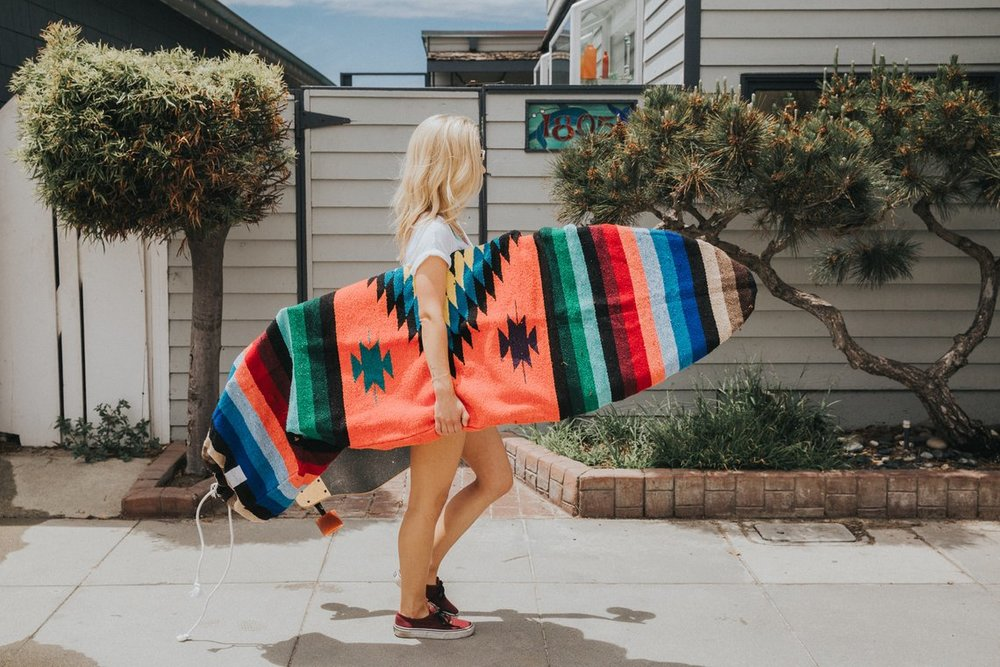Upcycled Mexican Blanket Surfboard Bag By WestPath