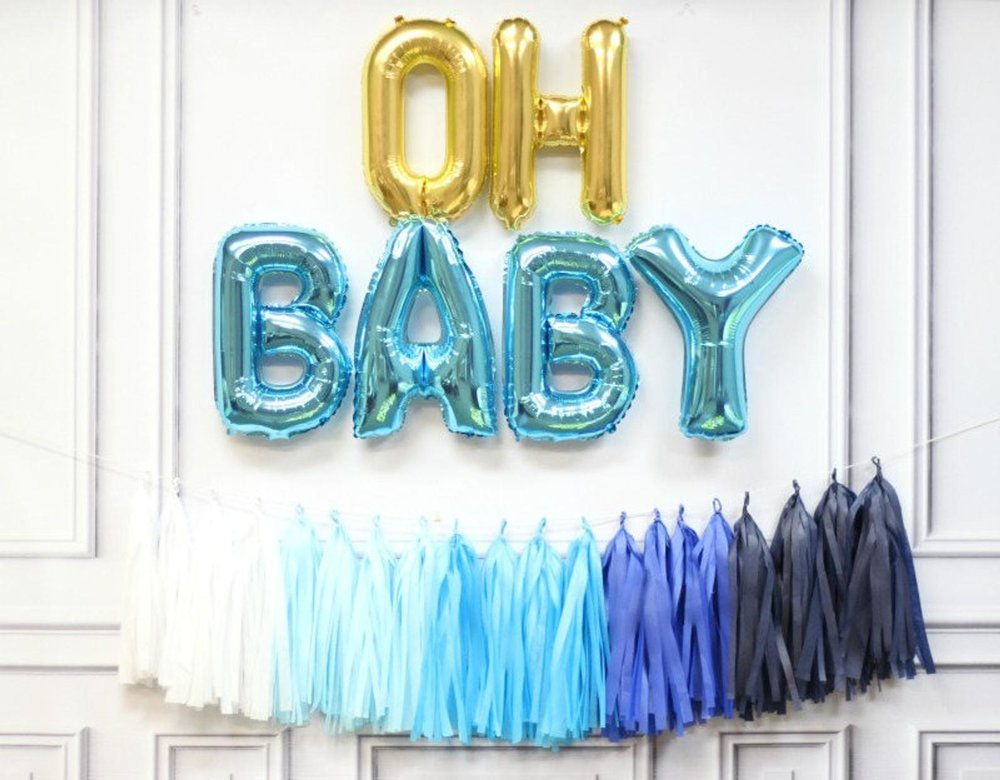OH BABY Letter Balloons By The Party Avenue