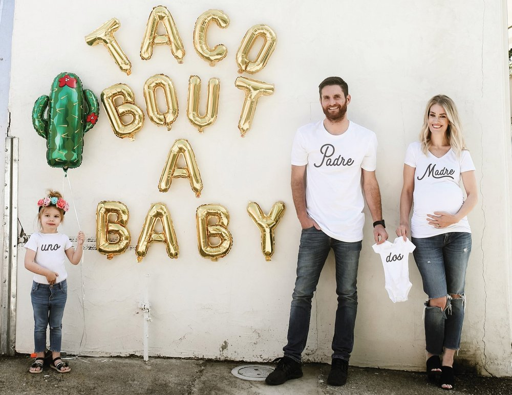 Pregnancy Announcement Shirts for Couples By To Little Arrows