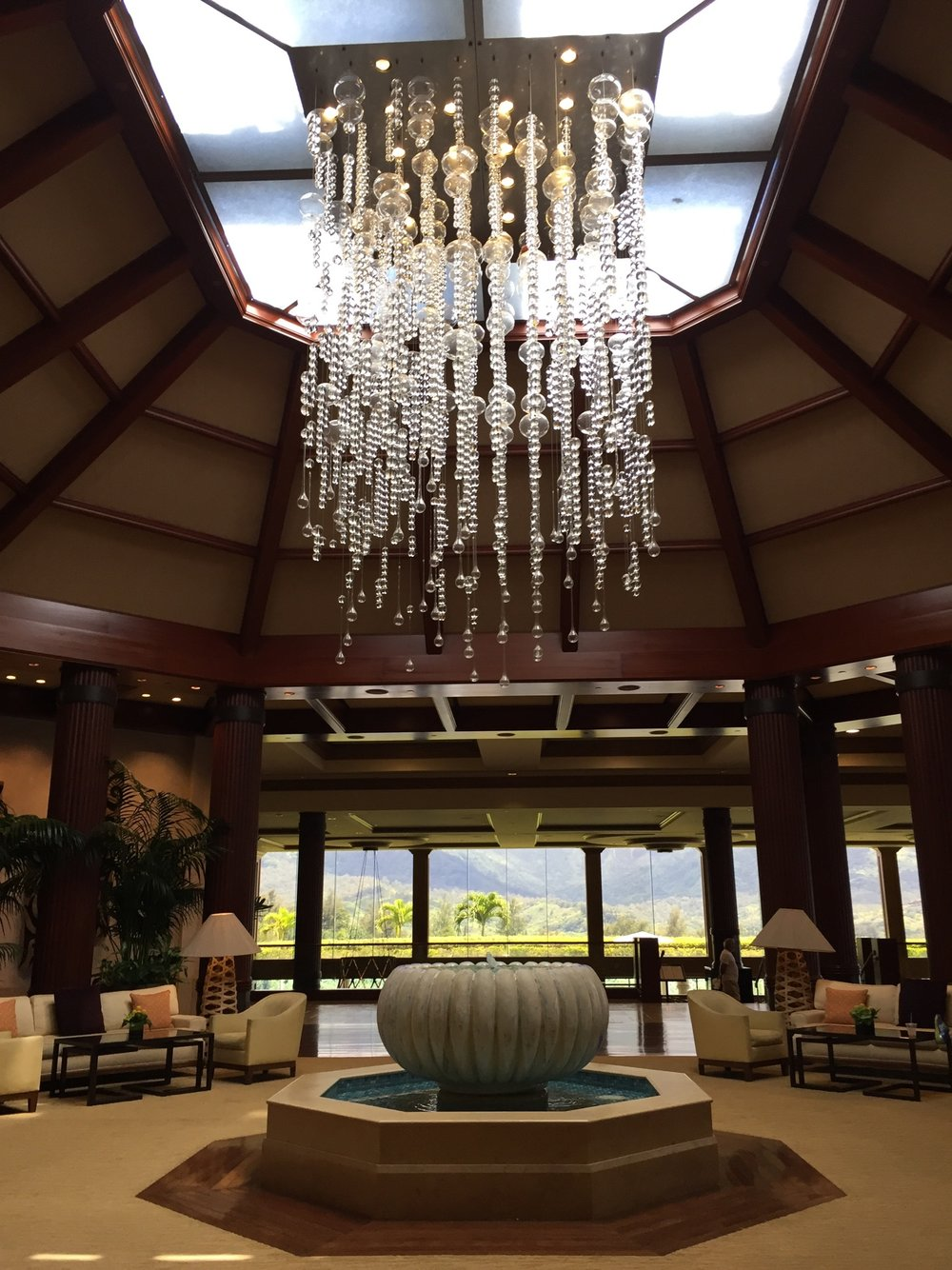 The lobby of the  St. Regis Princeville . So beautiful!