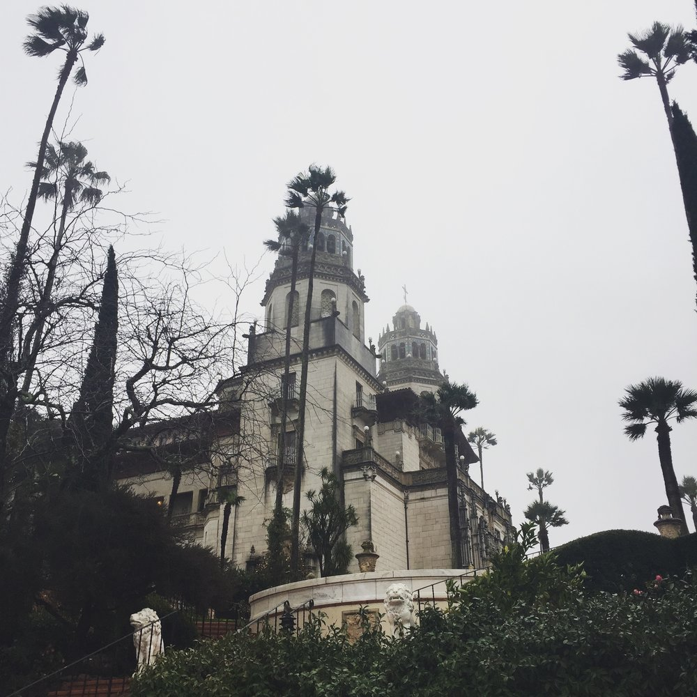 Hearst Castle  in the rain. Still beautiful!