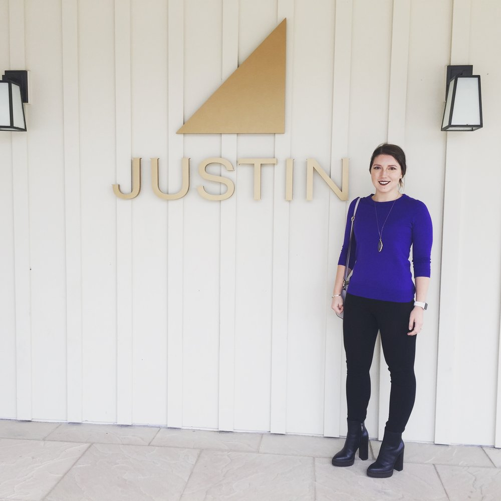 At  JUSTIN  winery in Paso Robles.