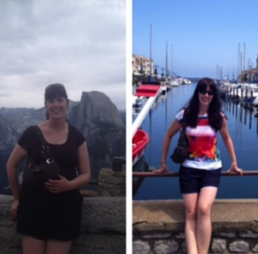 Laura Before and After her training with Jess