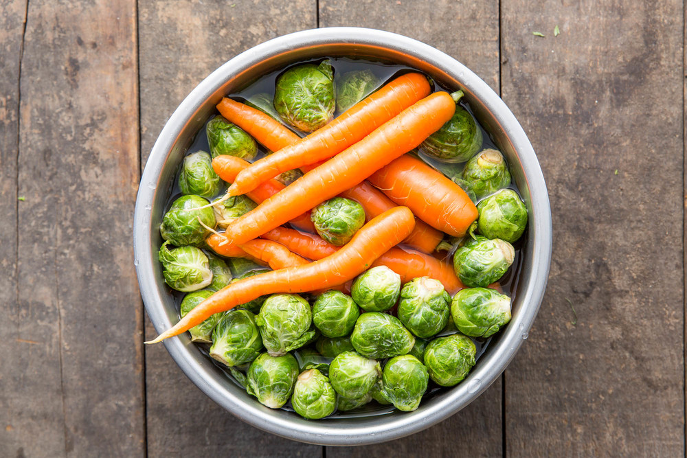 *Time-saving, water-saving tip: Rinse all the veggies in the same bowl of water.