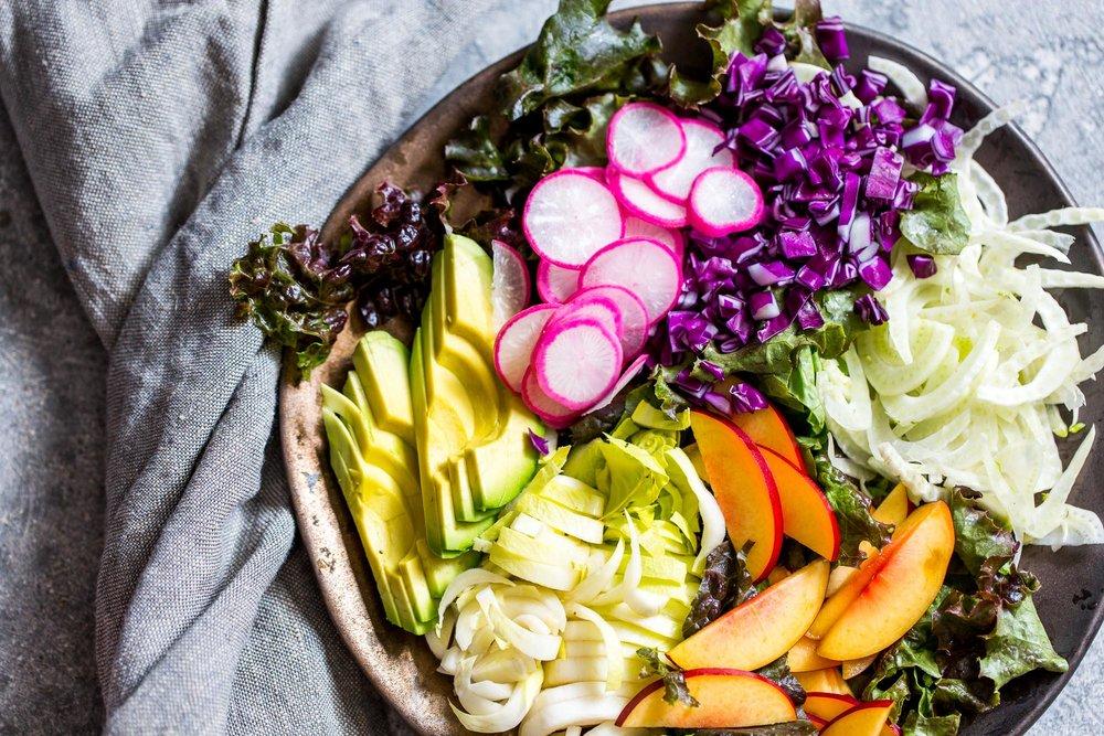 Nectarine Avocado Salad & How to Make Any Salad Better >> The Gantzery