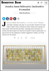 """read """"Jessica Anne Schwartz: Instinctive Formalist"""