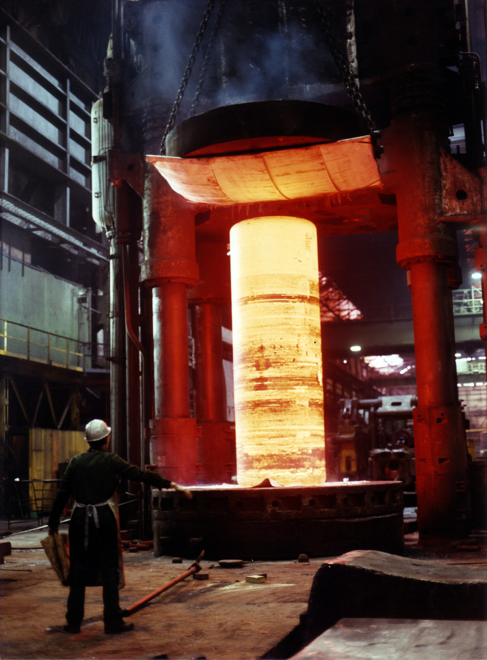 Steel forging. Image courtesy of Wikimedia Commons, published under  CC BY 3.0 .