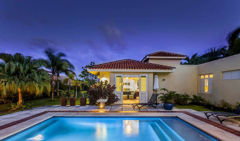 Christie's International Real Estate  PRICE: $2 million BEDROOMS: 4 BATHROOMS: 6  Moments from one of the most beautiful beaches in Dorado Beach and the Ritz Carlton Reserve, this spacious villa offers stunning sunset views amid tropical setting.