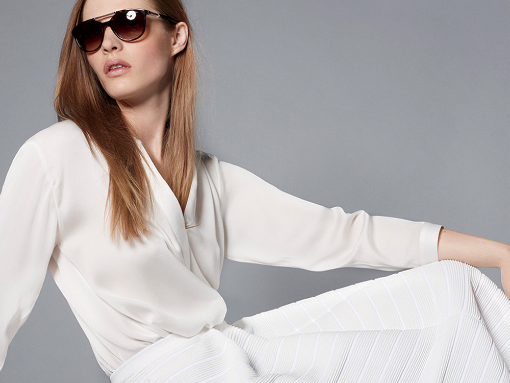 Giorgio Armani's latest New Normal capsule collection features pristine whites and breezy silhouettes.