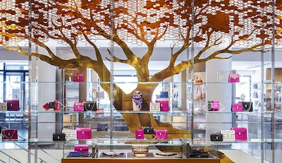 Bulgari tree display at Barneys New York on Madison Avenue