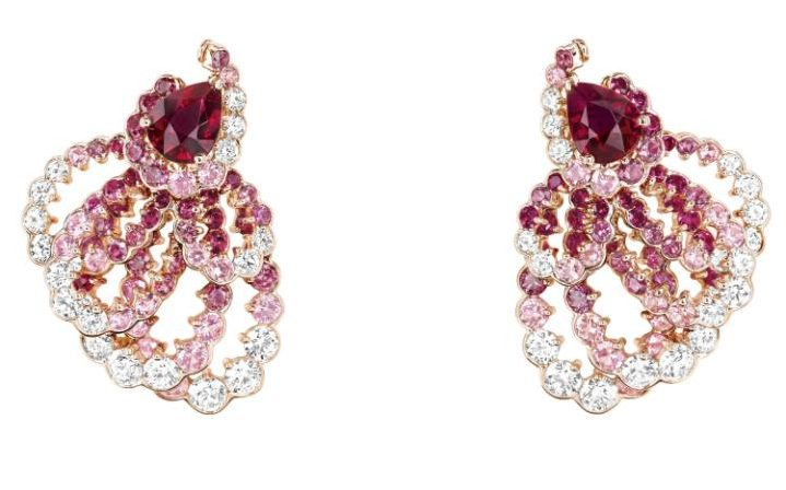 Milieu du Siecle ruby earrings by Dior Joaillerie