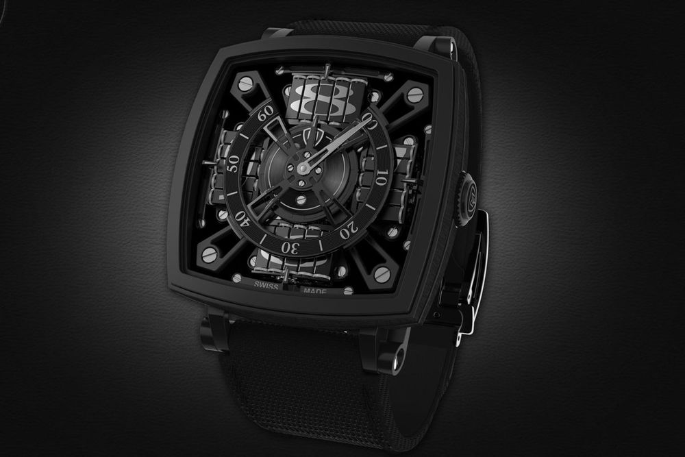 A rendering of a $95,000 watch MCT is making with Vantablack, in a limited edition of 10. Source: MCT
