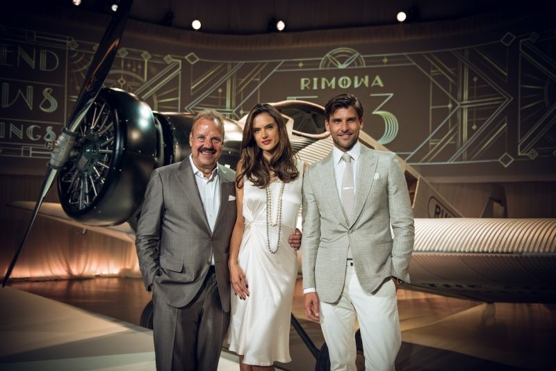Rimowa's CEO Dieter Morszeck, Alessandra Ambrosio and Johannes Huebl