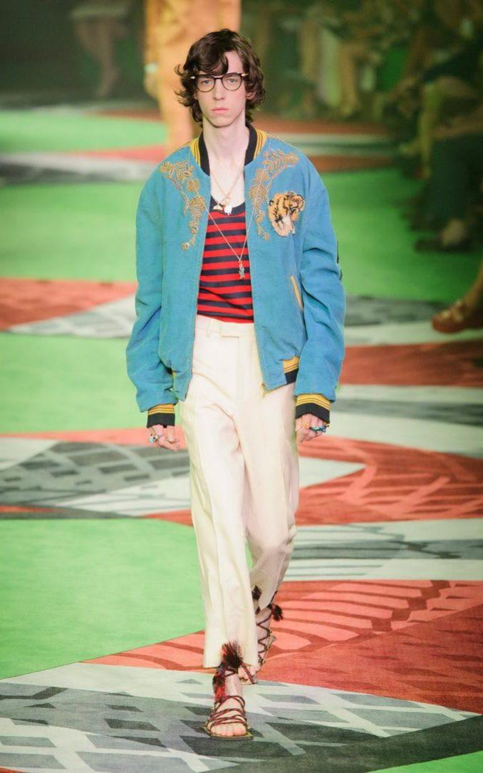 Gucci menswear SS17 CREDIT: MITCHELL SAMS