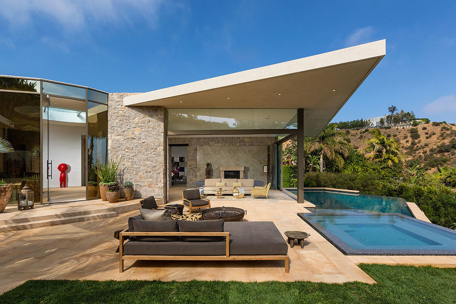 Situated in the Doheny Estates, this 7,500-square-foot house is featured in listing agent Ben Bacal's latest short film. The contemporary home is on the market for $16.5 million. Simon Berlyn