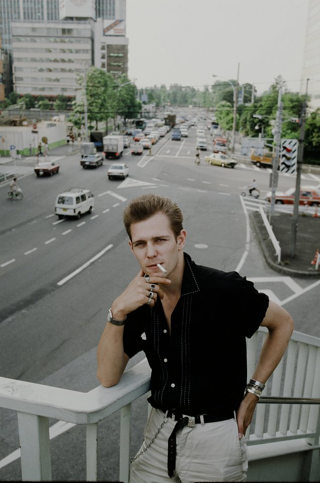 Paul Simonon at photo session in Harajuku, Tokyo in January 1982 Photo: Koh Hasebe / Getty Images