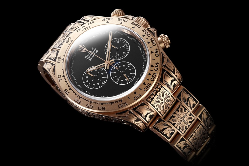 George Bamford's personal Rolex Daytona, whose engraving alone took in excess of 130 man hours. Source: Bamford Watch Department