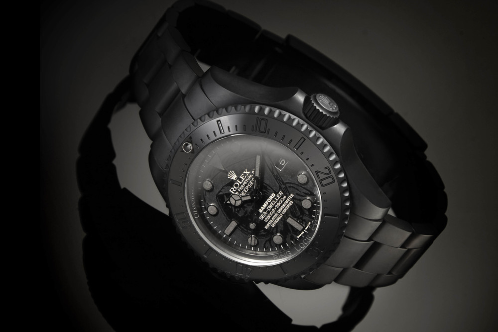 "Bamford x Wes Lang Deepsea ""Grim Reaper,"" one of five in its collaboration. Source: Bamford Watch Department"