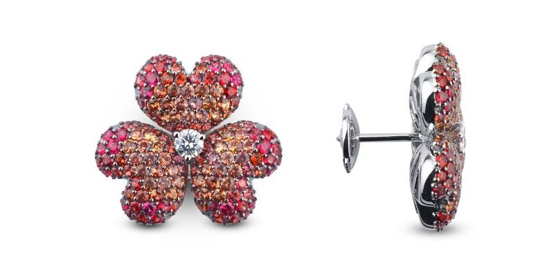 THE MOUAWAD FLOWER OF ETERNITY EARRINGS