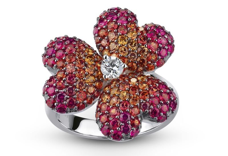 THE MOUAWAD FLOWER OF ROSETTE RING