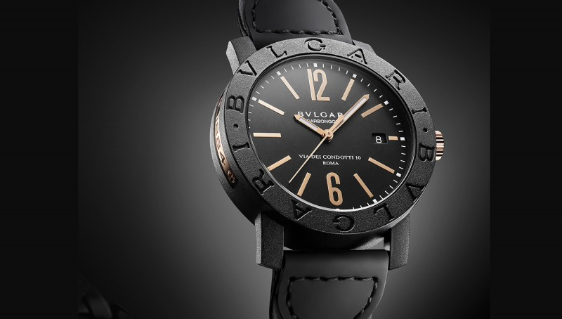 Bulgari Carbon Gold in black, bulgari.com