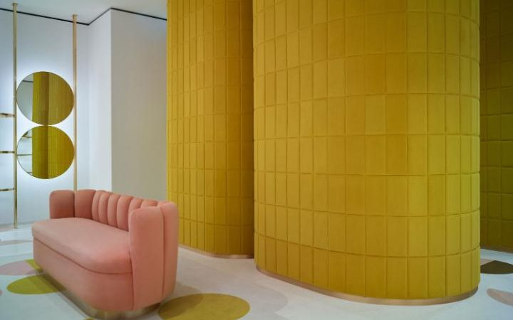 The colourways that have become Mahdavi's signature at REDValentino's London store